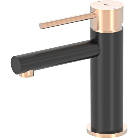Envol mitigeur lavabo noir et or rose - Noir et rose