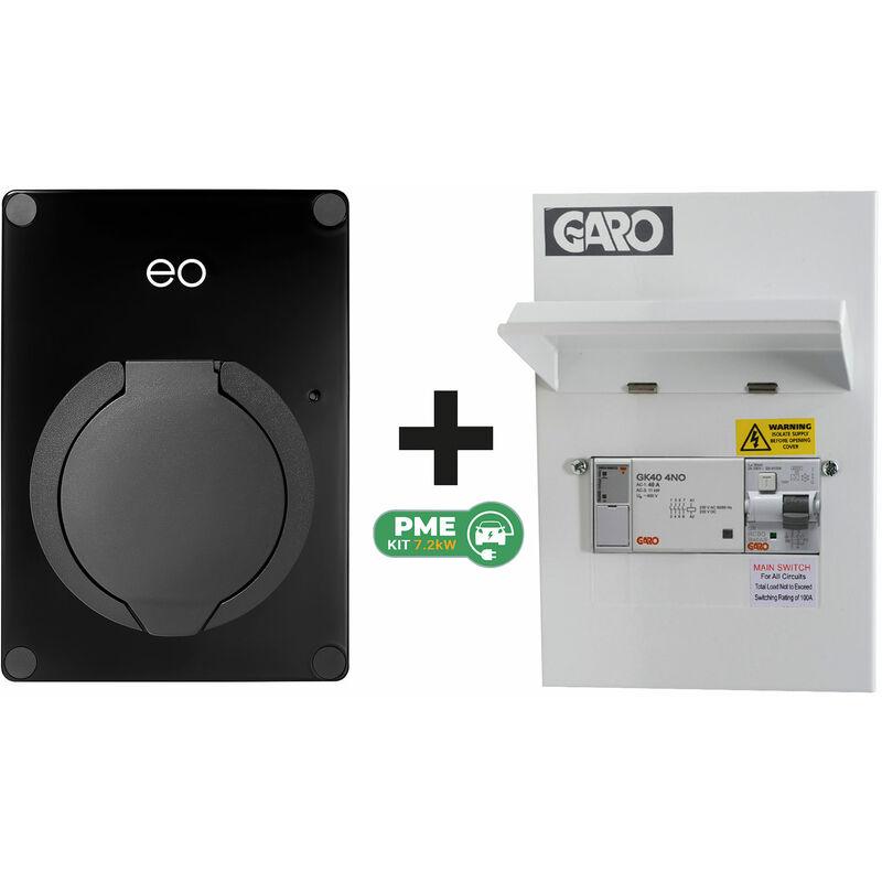 Image of Eo Charging - EO EO Mini PRO 2 7.2kW/32A 1PH Smart App Socket Black DCL + Garo PME Kit