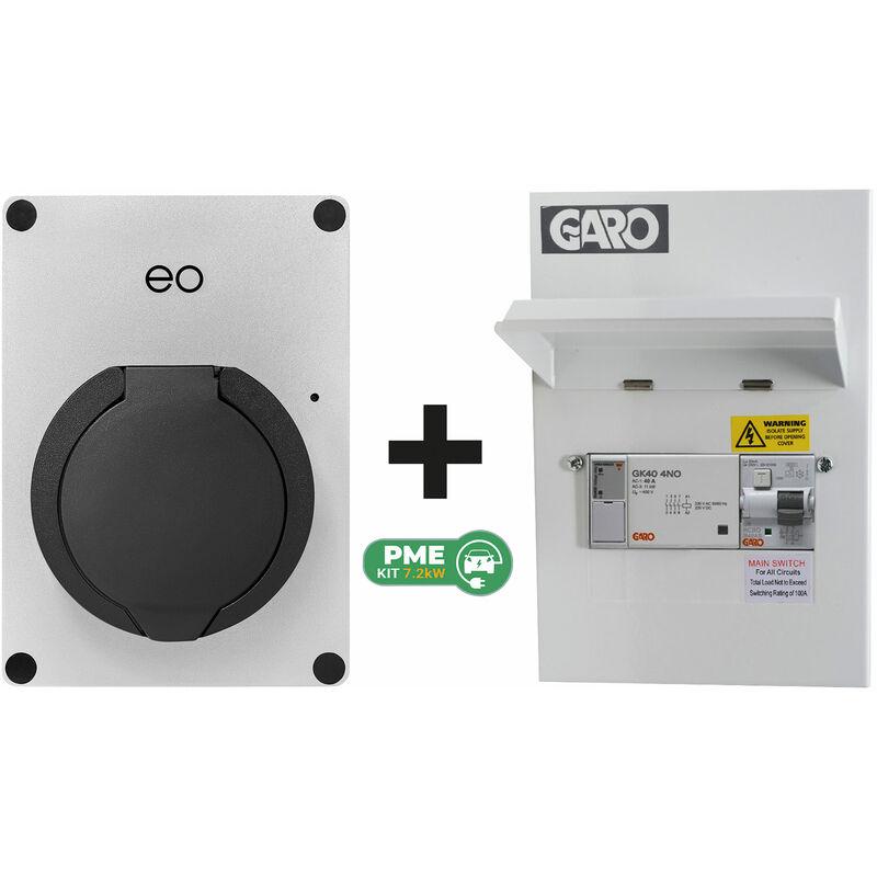 Image of Eo Charging - EO EO Mini PRO 2 7.2kW/32A 1PH Smart App Socket Silver DCL + Garo PME Kit
