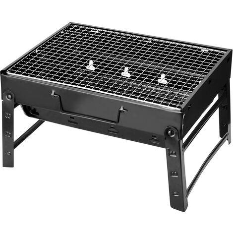 Epaissi Barbecue Portable Barbecue Four Pliante Accueil Grill En Plein Air Fours En Acier Noir Exterieur Cadeau Cooker Compact Grill, 43.5 * 29 * 23,5Cm, L