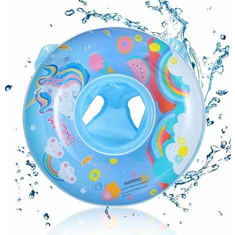 Épaissir l'anneau de natation pour bébé anneau de siège poignée de bébé anneau de siège rond bouée de sauvetage anneau d'aisselle 0-6 ans diamètre extérieur 50*70 cm licorne