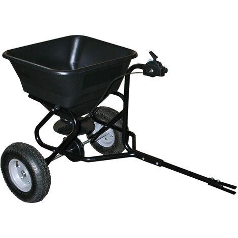 Epandeur 30 kg avec pneus à air / possibilité d'attache à un tracteur tondeuse