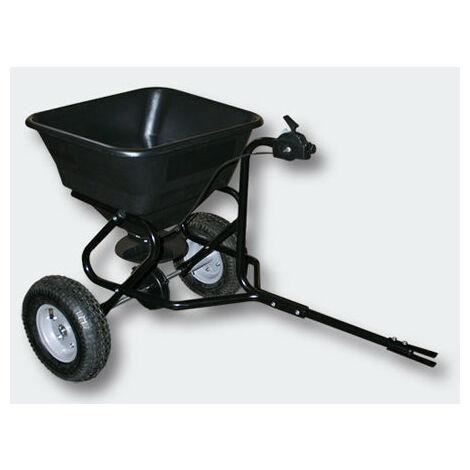 Epandeur 30 kg avec pneus à air pour tracteur tondeuse - Noir