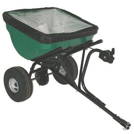 Épandeur à tracter 45 kg compost, sel de déneigement