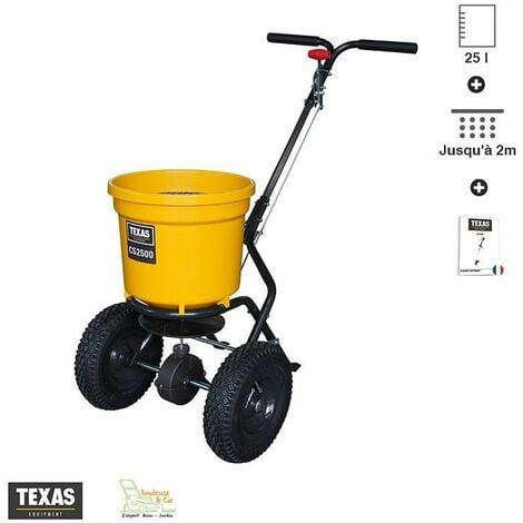 Epandeur centrifuge pour engrais gazon semence sel Texas CS2500