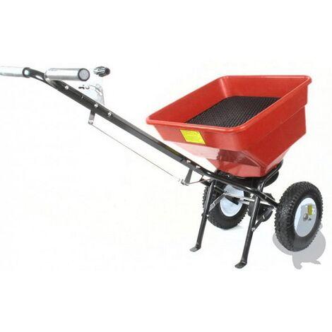 Epandeur rotatif à pousser avec réglage du débit 50kg