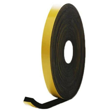 EPDM foam rubber adhesive black 15x15mm length 6m