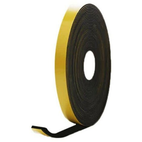 EPDM foam rubber adhesive black 15x3mm length 10m