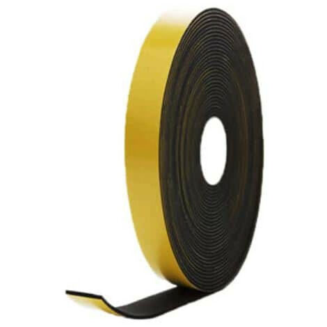 EPDM foam rubber adhesive black 20x5mm length 10m