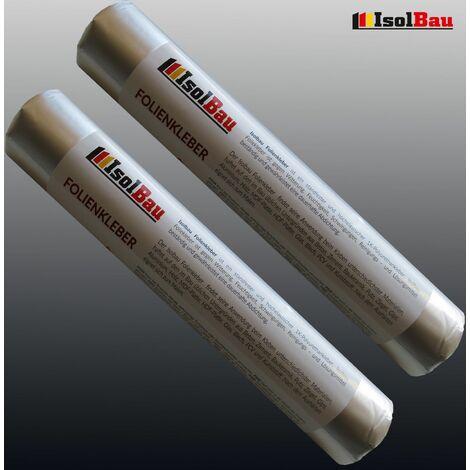 EPDM-Kleber Dichtkleber für Dampfbremse 2 x 600 ml Folienkleber Dampfsperre