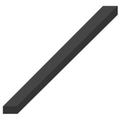 EPDM rubber band spongy crusty black 4 sides 20x10mm 1m length