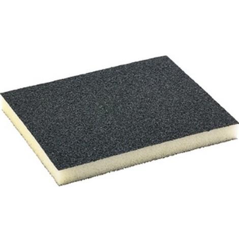 Eponge abrasive revêtue sur 2 faces, carbure de silicium, Degré de finesse : moyen, Grain 60