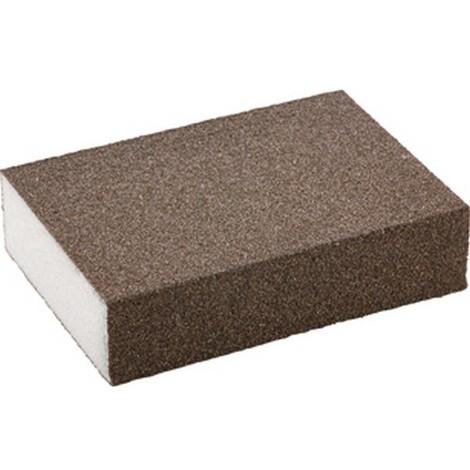 Eponge abrasive revêtue sur 4 faces, corindon, Degré de finesse : fin, Grain 100