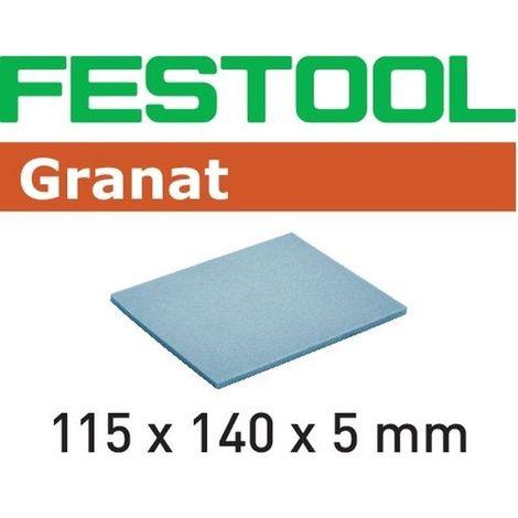 Éponge de ponçage FESTOOL 115x140x5 MF Grain 1500 - Boite de 20 - 201102