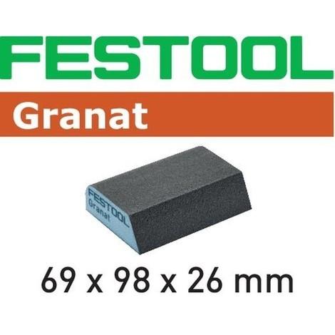 Éponge de ponçage FESTOOL 69x98x26 Grain 120 CO - Boite de 6 - 201084