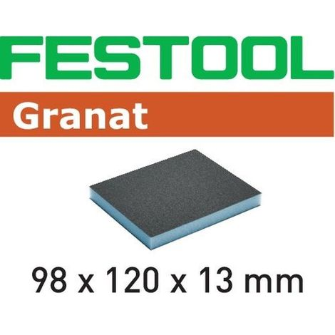 Éponge de ponçage FESTOOL 98x120x13 Grain 60 - Boite de 6 - 201112