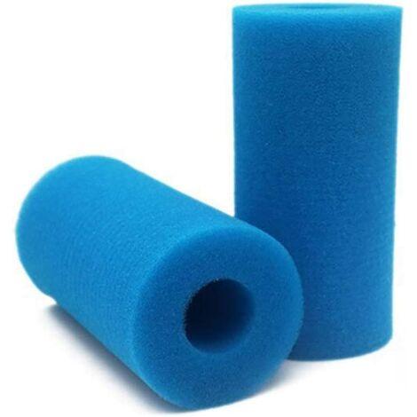 Éponge Filtrante Type A, Mousse pour Filtre Piscine, Filtre Piscine Lavable Reutilisable, Filtre Éponge Cartouche, Filtre Spa Intex Reutilisable, 2 Pièces
