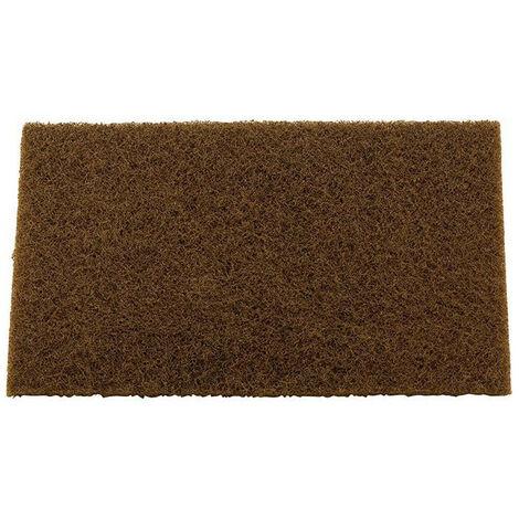 Éponge ŕ poncer robuste abrasive rouge pour nettoyage, satinage et finitions - 1 x 20 pads de 158mm x 224mm