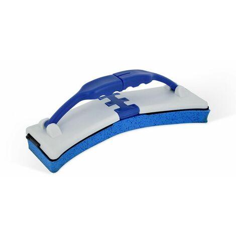 Éponge raclette 2-en-1 FlexiSponge avec système d'essorage - Bleu - Bleu