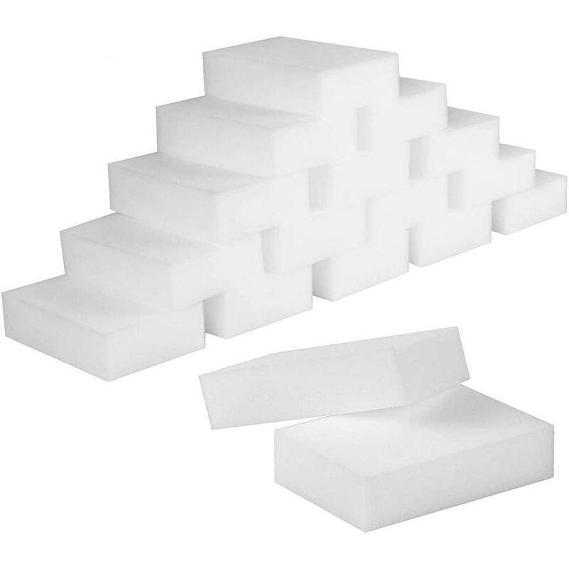 Bares - Eponges Magiques, 50 Pcs Eponge en Melamine de Nettoyage - Gomme Magique pour Salle de Bain,Piscine,Cuisine,Sol,Mur - Blanche 10x7x3cm