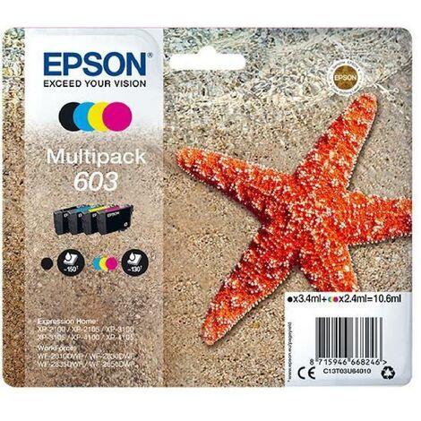 EPSON Cartouche d'encre Multipack 4 couleurs 603 Ink - Noir. Cyan. Magenta. Jaune