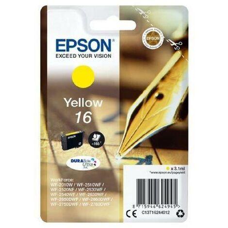 EPSON Cartouche T1624 - Stylo Plume - Jaune