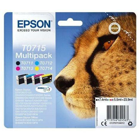 EPSON Multipack T0715 - Guépard - Noir. Cyan. Magenta. Jaune