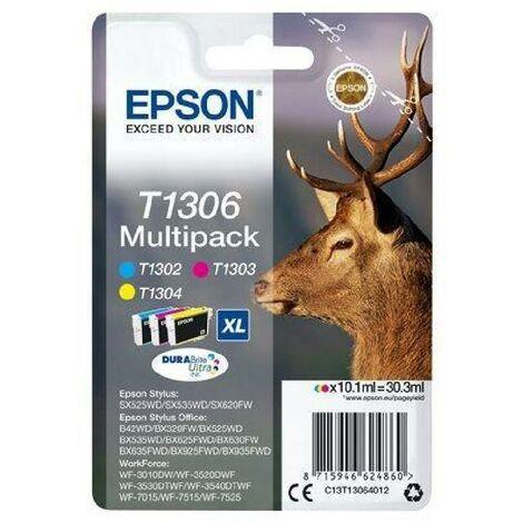 EPSON Multipack T1306 - Cerf - Cyan. Magenta. Jaune