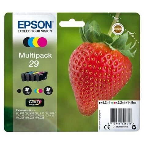EPSON Multipack T2986 - Fraise - Noir. Cyan. Magenta. Jaune
