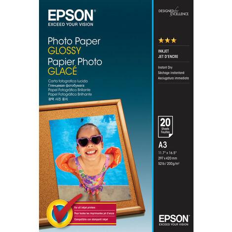 Epson Photo Paper Glossy - A3 - 20 Feuilles - Gloss - 200 g/m² - A3 - 20 feuilles (C13S042536)