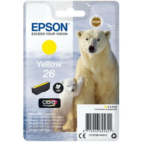 Epson Polar bear Cartouche Ours Polaire - Encre Claria Premium J - Original - Encre à pigments - Jaune - Epson - - Expression Premium XP-820 - Expression Premium XP-720 - Expression Premium XP-625 - Expression... - 1 pièce(s) (C13T26144012)