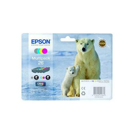 Epson Polar bear Cartouche Ours Polaire - Encre Claria Premium MP - Original - Encre à pigments - Noir - Cyan - Magenta - Jaune - Epson - - Expression Premium XP-820 - Expression Premium XP-720 - Expression Premium XP-625 - Expression... - 4 pièce(s) (C13