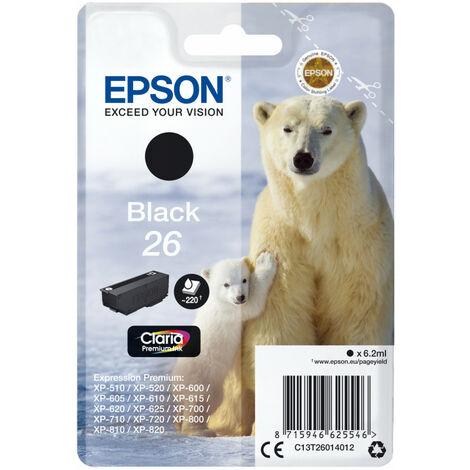 Epson Polar bear Cartouche Ours Polaire - Encre Claria Premium N - Original - Encre à pigments - Noir - Epson - - Expression Premium XP-820 - Expression Premium XP-720 - Expression Premium XP-625 - Expression... - 1 pièce(s) (C13T26014012)