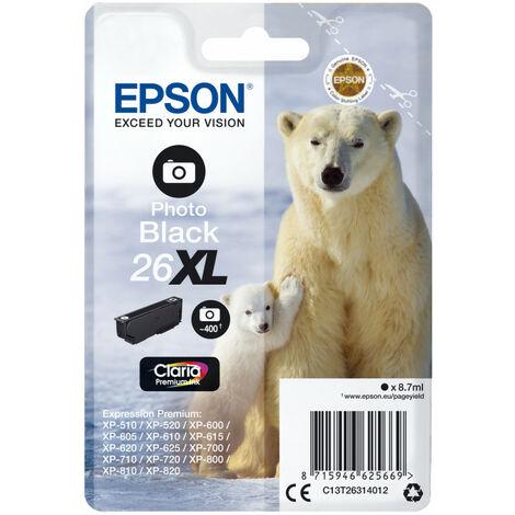 Epson Polar bear Cartouche Ours Polaire - Encre Claria Premium N Photo (XL) - Original - Encre à colorant - Photo noire - Epson - - Expression Premium XP-820 - Expression Premium XP-720 - Expression Premium XP-625 - Expression... - 1 pièce(s) (C13T2631402