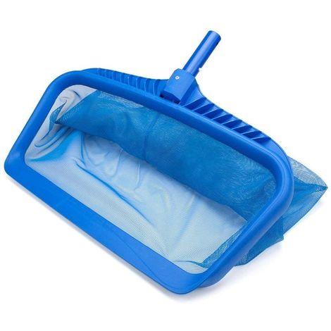 épuisette de fond de grand capacité pour votre piscine - luxe - couleur bleu