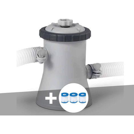 Epurateur à cartouche Intex 1 m³/h + 3 cartouches H