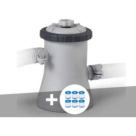 Epurateur à cartouche Intex 1 m³/h + 6 cartouches H