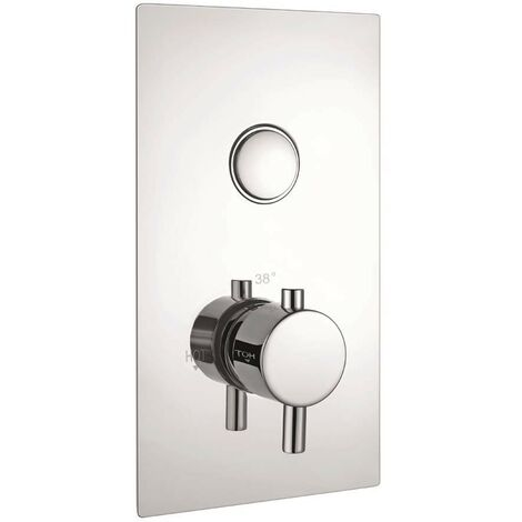 Equate Chrome Single Push Button Concealed Shower Valve (TMV2)