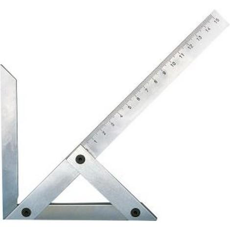 Équerre à centrer de précision, Taille : 250 x 160 mm, Pour arbres jusqu'à un Ø de 230 mm