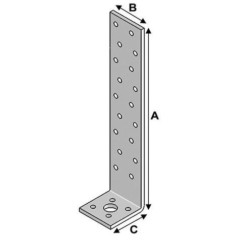 Equerre béton (H x L x l x ép) 300 x 40 x 40 x 2,0 mm - AL-EB30040420 - Alsafix - -