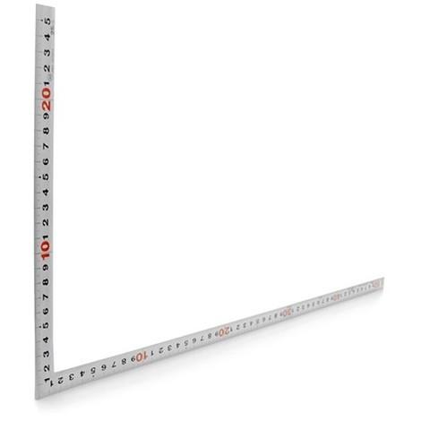 Equerre charpentier inox 300 x 150 mm Shinwa avec double gradutation - MFLS - MESU10451