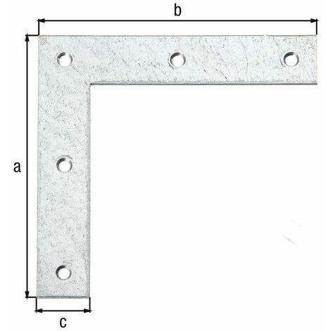 Équerre d'angle galva zinguée sendzimir 160x160x30