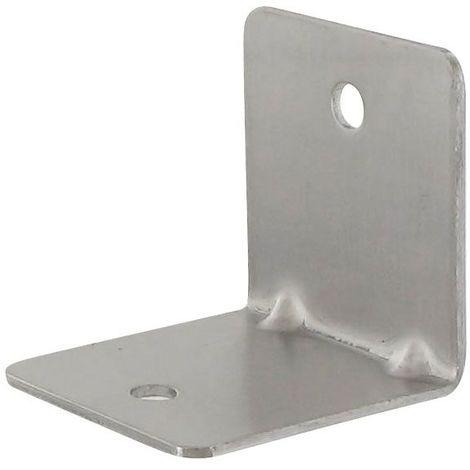 Equerre d'assemblage carrée - Décor : Satiné - Matériau : Inox 304 - Epaisseur : 2 mm - Hauteur : 52 mm - Largeur : 52 mm - Pour panneau d\'épaisseur maxi : 10 mm - ITAR