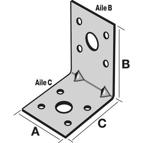 """main image of """"Équerre d'assemblage SIMPSON - A40xB60xC60 - ép.2 mm - EA664/2"""""""