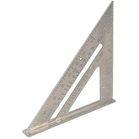 Équerre de charpentier en alliage d'aluminium - 185 mm