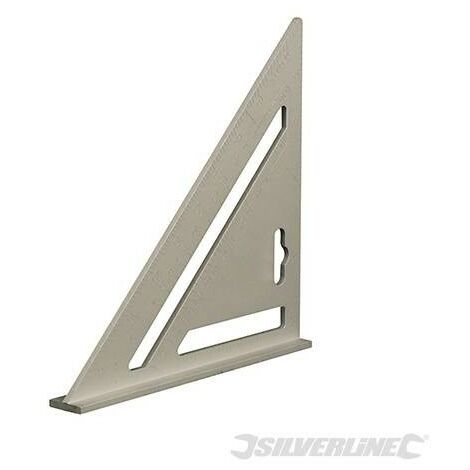 Équerre de charpentier en aluminium, 185 mm
