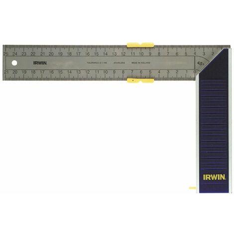Equerre de menuisier à onglet en aluminium 250 mm de Irwin 10503543