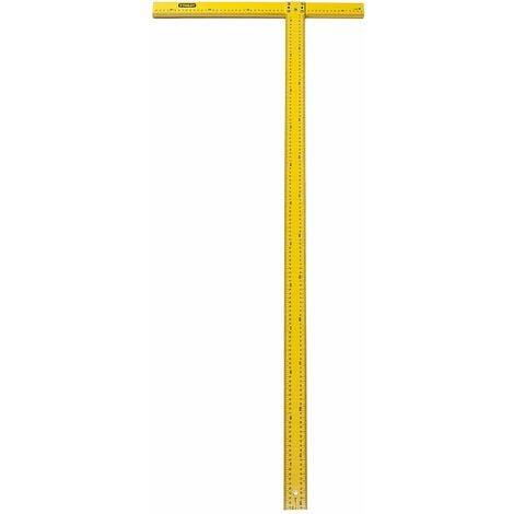 Equerre en T - Plaques de Plâtre - 122 cm - Graduations Millimétriques Noir - STANLEY, STHT1-05894