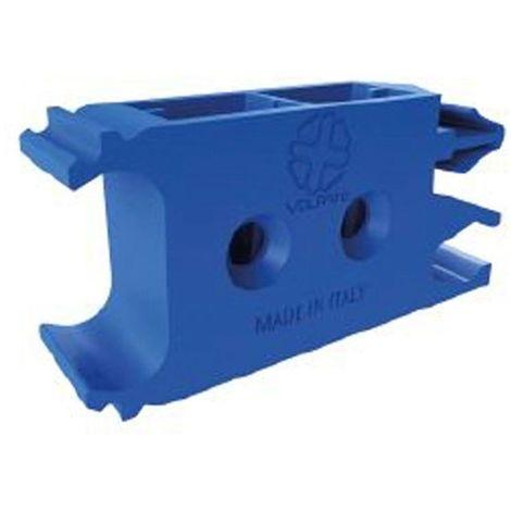 Equerre fixation plastique pour profil zagreb - Décor : Bleu - Matériau : Plastique - VOLPATO