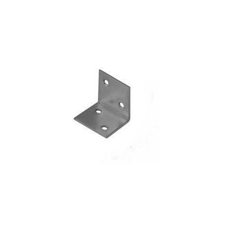 Equerre grand angle n° 3174 TOOLCRAFT 890725 (L x l) 40 mm x 40 mm En acier galvanisé, clair C07453